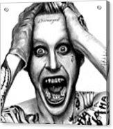 Jared Leto As The Joker Acrylic Print