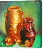 Jars Acrylic Print by Matthew Doronila
