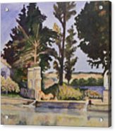 Jas_de_bouffan_after_cezanne Acrylic Print by Don Perino