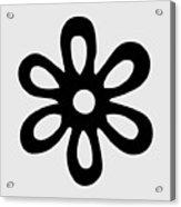 Camellia - Black  Acrylic Print