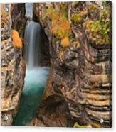 Jasper Maligne Canyon Waterfall Acrylic Print