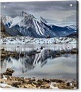 Jasper Medicine Lake Reflections Acrylic Print