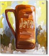 Java Coffee Cup Acrylic Print