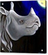 Javan Rhino Acrylic Print