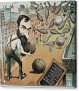 Jay Gould Cartoon, 1882 Acrylic Print