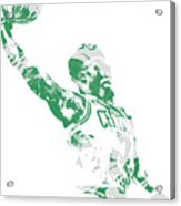 Jaylen Brown Boston Celtics Pixel Art 11 Acrylic Print