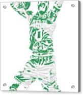 Jayson Tatum Boston Celtics Pixel Art 11 Acrylic Print