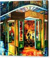 Jazz At The Maison Bourbon Acrylic Print by Diane Millsap