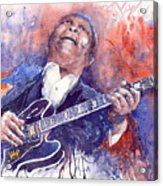 Jazz B B King 05 Red Acrylic Print