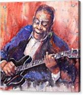 Jazz B B King 06 A Acrylic Print by Yuriy  Shevchuk