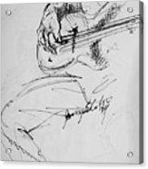 Jazz Bass Guitarist Acrylic Print