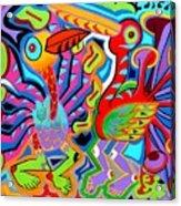 Jazz Birds Acrylic Print