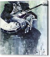 Jazz Bluesman John Lee Hooker 04 Acrylic Print