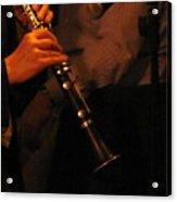 Jazz Clarinet Profile Acrylic Print