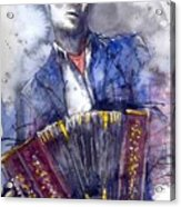 Jazz Concertina Player Acrylic Print
