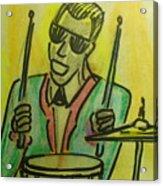 Jazz Drummer Acrylic Print