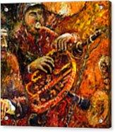 Jazz Gold Jazz Acrylic Print