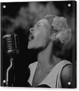 Jazz Great Billie Holiday Acrylic Print