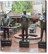 Jazz Greats Al Hirt Fats Domino Pete Fountain Stature New Orleans  Acrylic Print