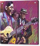 Jazz Guitarist Duet Acrylic Print