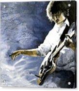 Jazz Guitarist Last Accord Acrylic Print