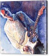 Jazz Guitarist Rene Trossman Acrylic Print