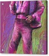 Jazz James Brown Acrylic Print