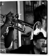 Jazz Men In Black And White Acrylic Print