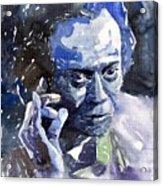 Jazz Miles Davis 11 Blue Acrylic Print