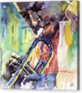 Jazz Miles Davis 9 Blue Acrylic Print