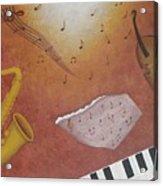 Jazz Music Acrylic Print