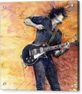 Jazz Rock Guitarist Stone Temple Pilots Acrylic Print by Yuriy  Shevchuk