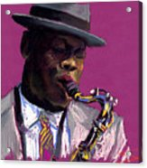 Jazz Saxophonist Acrylic Print