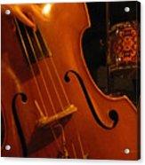 Jazz Upright Bass Acrylic Print