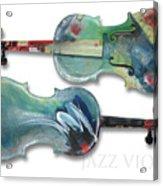 Jazz Violin - Poster Acrylic Print