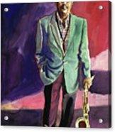 Jazzman Ben Webster Acrylic Print by David Lloyd Glover