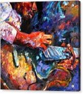 Jazzy Guitar Acrylic Print