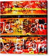 Je T'aime Love Bench Acrylic Print