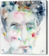 Jean Cocteau - Watercolor Portrait.2 Acrylic Print