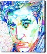 Jean Gabin - Colored Pens Portrait Acrylic Print