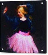 Jean Jacket Ballerina Acrylic Print