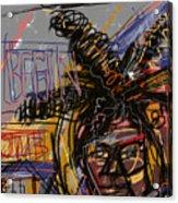 Jean Michel Basquiat Acrylic Print by Russell Pierce