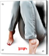 Jeans And Toes Acrylic Print