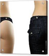 Jeans Style Acrylic Print