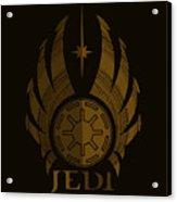 Jedi Symbol - Star Wars Art, Brown Acrylic Print