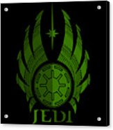 Jedi Symbol - Star Wars Art, Green Acrylic Print