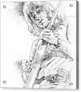 Jeff Beck - Truth Acrylic Print by David Lloyd Glover