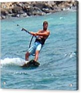 Jeff Kite Surfer Acrylic Print