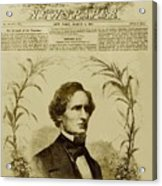 Jefferson Davis 1808-1889, First Acrylic Print