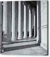 Jefferson Memorial Columns And Shadows Acrylic Print
